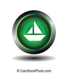 Vela icono en el botón de internet
