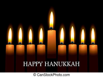 velas, hanukkah