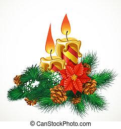 velas, navidad