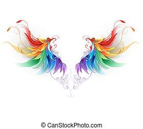 velloso, arco irirs, alas