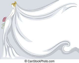 velo de novia, plano de fondo