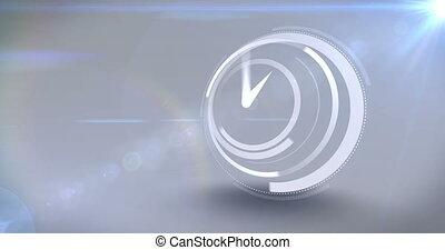 velocidad, reloj, blanco, tictac