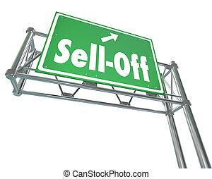 Vende letreros de la autopista vendiendo acciones de inmersión de pánico