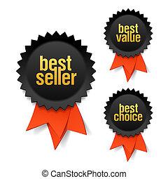 vendedor, mejor, valor, opción