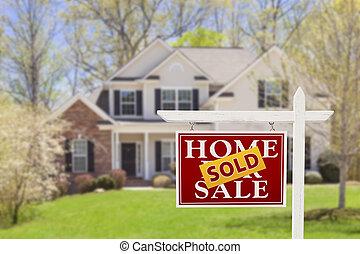 Vendido a casa para vender bienes raíces y casa
