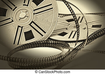vendimia, 8 mm, película envejecida, película