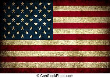 vendimia, bandera, estados unidos de américa
