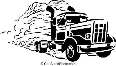 vendimia, camión