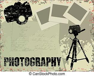 vendimia, fotografía, cartel