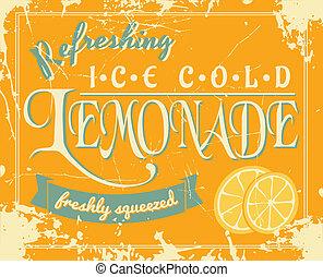 vendimia, limonada, cartel