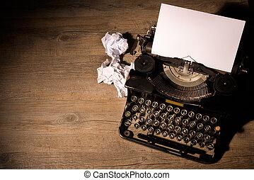 vendimia, máquina de escribir