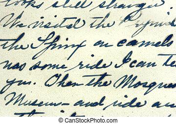 vendimia, manuscrito