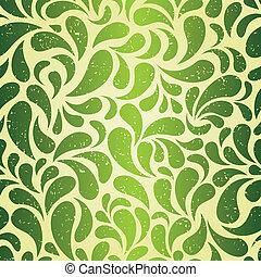 vendimia, papel pintado, verde