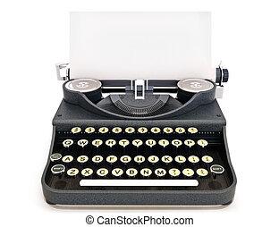 vendimia, retro, máquina de escribir
