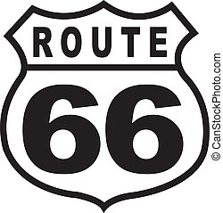 vendimia, ruta, señal, retro, 66, carretera