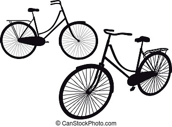 vendimia, vector, bicicleta