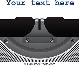 vendimia, vector, detalle, máquina de escribir