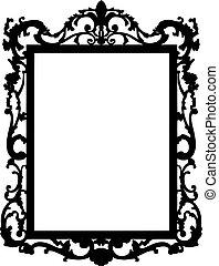 vendimia, vector, frame.