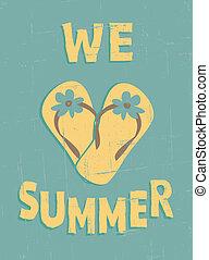 vendimia, verano, cartel