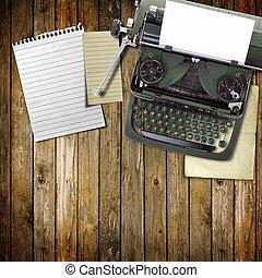 vendimia, viejo, máquina de escribir