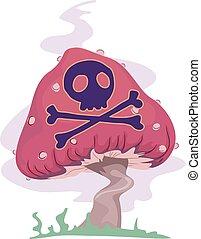 venenoso, psicodélico, hongo