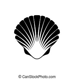 venera, concha marina, icono