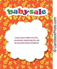 Venta de bebés con un fondo colorido