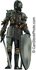 Ventador de armadura medieval