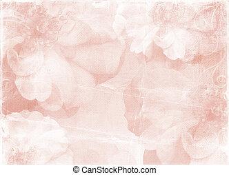 Ventaja de papel romántico con rosas