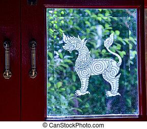 ventana de cristal, sigha, blanco