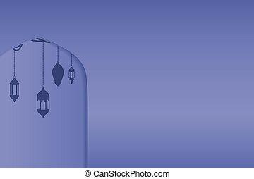 Ventanas de arco árabe y puertas, fondo vectorial