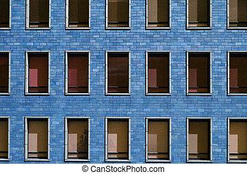 Ventanas de bloque azul