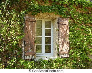 Ventanas francesas y persianas