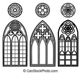 Ventanas góticas de catedrales