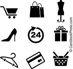 Ventas y iconos de compras