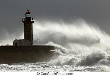 ventoso, inmenso, onda