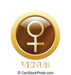 Venus. Ilustración de vectores.