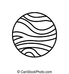 Venus planeta aislado icono