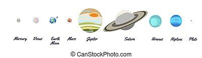 venus., planeta, pluto., set., plano, caricatura, earth., solar, mercury., neptune., drawing., uranus., moon., saturn., icono, system., planetas, mars., jupiter.