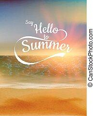 verano, 10, eps, fondo., ocaso, defocused
