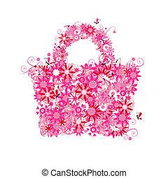 verano, estilo, compras, floral, sale., también, ver, imágenes, mi, galería, bolsa