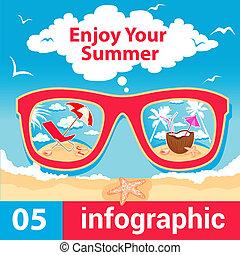 verano, infographic, tiempo