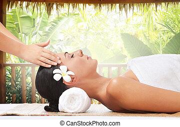 verano, masaje