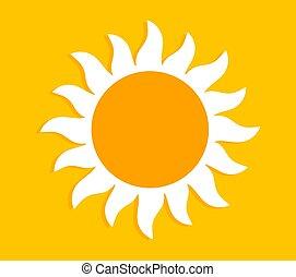 verano, o, sol, etiqueta, bandera, fondo.