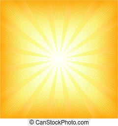 verano, sol, cuadrado, explosión de la luz