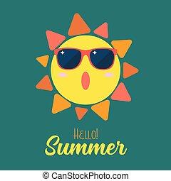 verano, sol, llevar lentes de sol