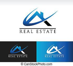 verdadero, casa, propiedad, techo, icono