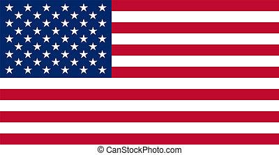 verdadero, colores, bandera, norteamericano, estados unidos de américa