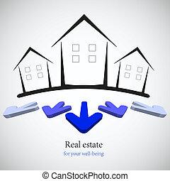 verdadero, concepto, illustration., propiedad, business., opción, vector, su, mejor