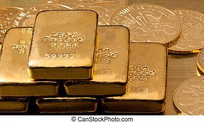 verdadero, monedas de oro, que, oro y plata en metálico, inversión